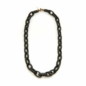 Kaleos eyewear - Oval resin chain black matt • Frames and Faces