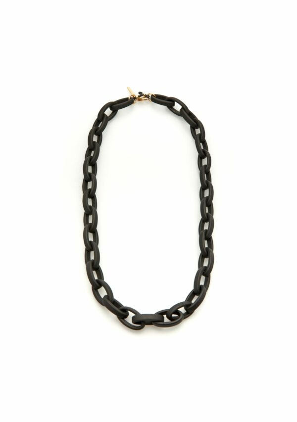 Kaleos eyewear - Oval resin chain black matt • Frames and Faces