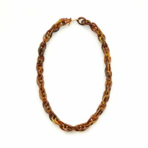 Kaleos eyewear - Double link resin chain brown • Frames and Faces